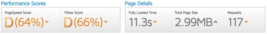 Bad site speed performance